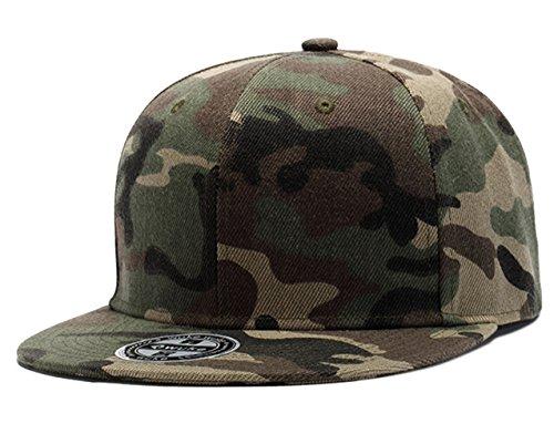 LANSHI Hip-Hop Dance Camo Baseball Cap Snapback Hat for Men Women