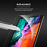 OMOTON Tempered Glass Screen Protector for iPad Pro 12.9 2020 and 2018 Release (4th Generation and 3rd Generation) - Sensitive Touch, Apple Pencil & Face ID Compatible