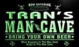 qd1476-g TRAN's Man Cave Soccer Football Bar Neon Beer Sign