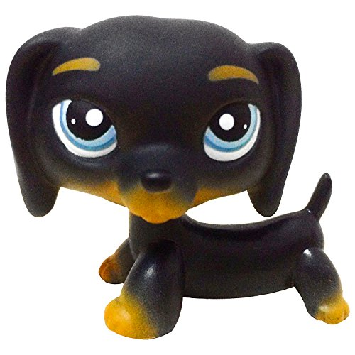 Littlest Pet Shop Black Dachshund Chien Teckel LPS Dog Figure Toy # 325