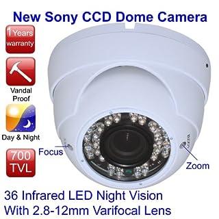 iSmart Outdoor Weatherproof & Tamperproof IR Night Vision, Varifocal Sony Dome Camera