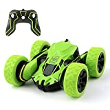 RC Car Toy, MiluoTech Remote Control Cars Vehicles Stunt Car Double Sided Rotating Tumbling Ransformation 360 Degree Flips (Green)