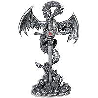 Diseño efecto piedra Dragon envuelto figura decorativa Fantasy
