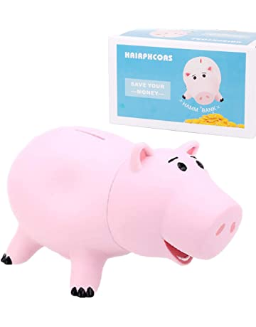 fab05b251 HairPhocas Cute Pink Pig Money Box Plastic Piggy Bank for Kid s Birthday  Gift with Box