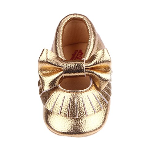 Eozy Babyschuhe Mädchen Lauflernschuhe Festlich Schuhe Ballerina Gold