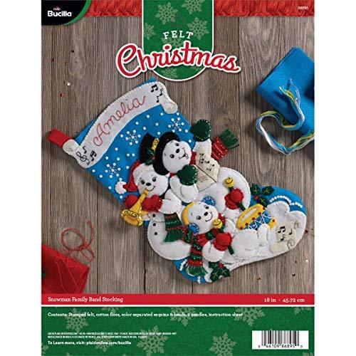 Bucilla 86895 Felt Applique Christmas Stocking, 18
