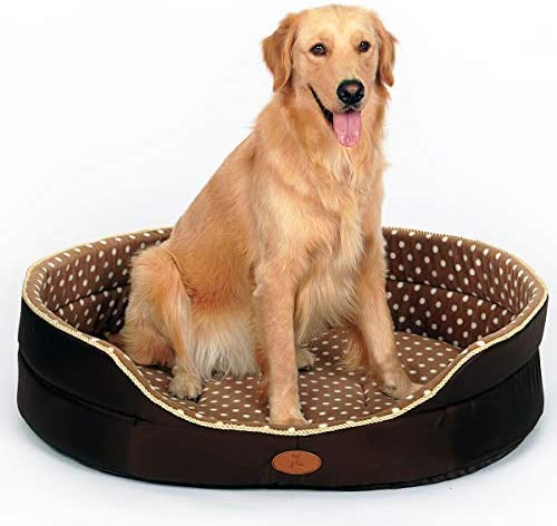 PLS Pet Hoopet Polka Dot Large Dog Bed