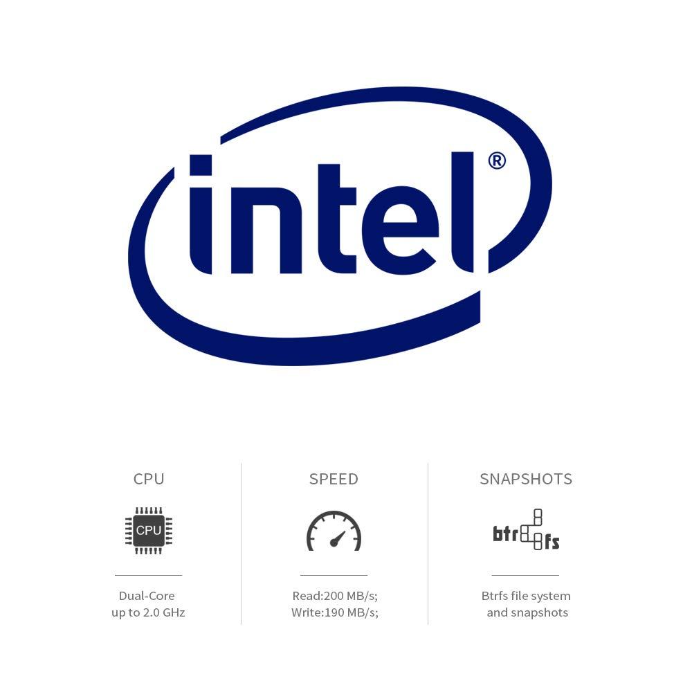 TerraMaster F2-221 NAS 2-Bay Cloud Storage Intel Dual Core 2.0GHz Plex Media Server Network Storage (Diskless) by TerraMaster (Image #4)