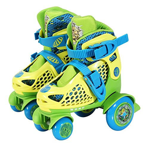 PlayWheels Teenage Mutant Ninja Turtles Kids Big Wheel Quad Roller Skates, Junior Size 6-9 by PlayWheels