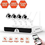 Security Camera System Wireless, JOOAN FHD 1080P Camera Remote Monitoring IP Cam Waterproof