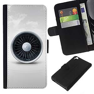 Planetar® Modelo colorido cuero carpeta tirón caso cubierta piel Holster Funda protección Para HTC Desire 820 ( Jet Engine )