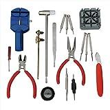 18PCS Watch Case Opener Knife/Spring Bar Pins/Screwdriver/Jewelry Magnifier Tool Kit (18pcs kit)