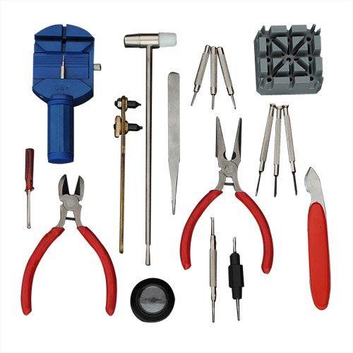 Megashopping 18pcs Watch Case Opener Knife/spring Bar Pins/screwdriver/jewelry Magnifier Tool Kit (18pcs Kit)