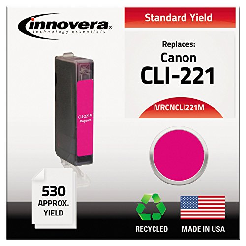 Price comparison product image Innovera CNCLI221M Compatible, Remanufactured, 2948B001 (CLI221) Ink, 715 Yield, Magenta