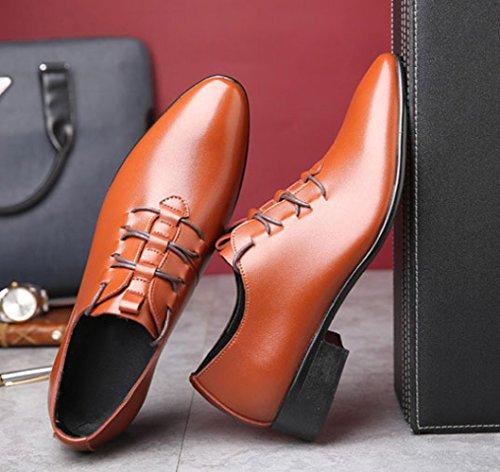 Mariage Cuir Chaussures Menswear Mode De Brown Chaussures Chaussures Lacets Habillées Commerciales à Casual en 7B5wqBA