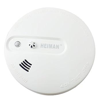 Sensor Dual independiente® heiman combinar humo y Detector de calor alarma de incendio Detector de humos con Sensor fotoeléctrico y calor Sensor HM-620DHS: ...