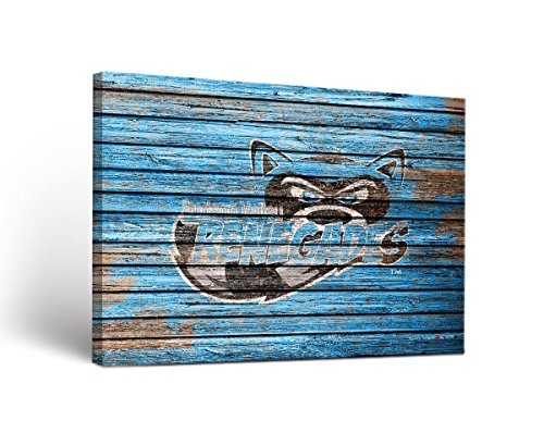 Victory Tailgate Hudson Valley Renegades Canvas Wall Art Weathered Design (24x36)