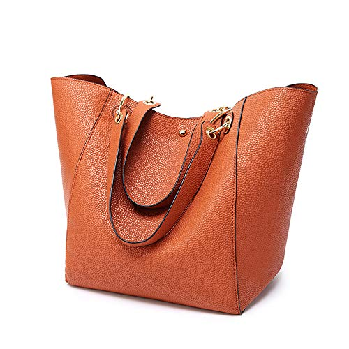 (Cawmixy Women Hobo Satchel Soft Shoulder Bags Synthetic Leather Tote Ladies Purses Designer Woman Bags (D Brown))