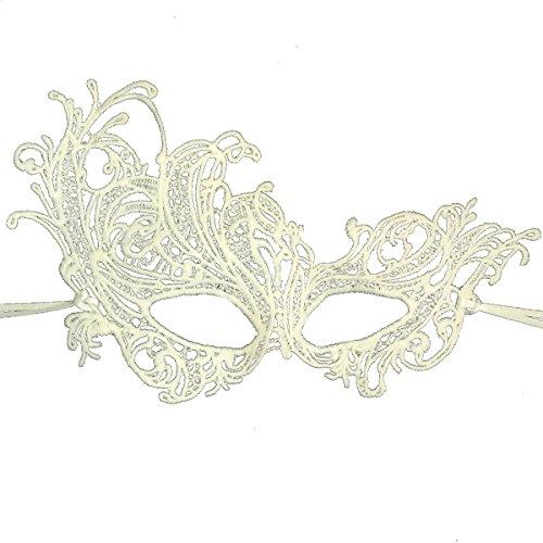 Ivory Lace Renaissance Masquerade Mask by Samantha Peach