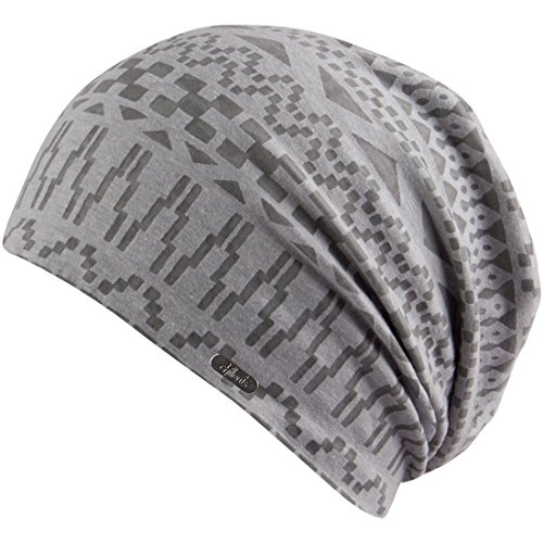 Chillouts DHAKA Soft Light Patterned Slouchy Beanie -  Chillouts Headwear