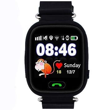 Niños Reloj Inteligente GPS Rastreador Localizador Anti-Lost Seguridad Niños Reloj de Pulsera SOS Llamadas SIM Podómetro Smartwatch Compatible con ...