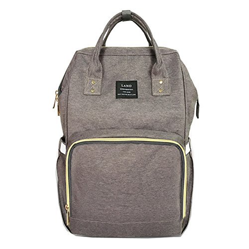 Globalwells Mummy Maternity Backpack Travel Bag Multifunction Baby Diaper Nappy Changing Handbag tote bag dark grey