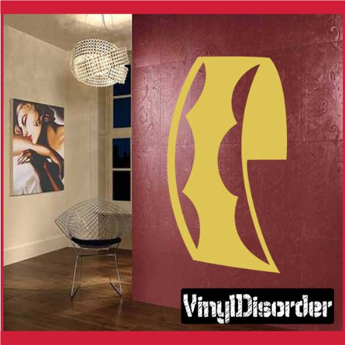 "Vinyl Disorder scrollsMC126 Scrolls Car Wall Decal, 36"", Bla"