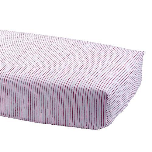 Ethan Allen   Disney Paint Stripe Crib Sheet, Minnie Pink