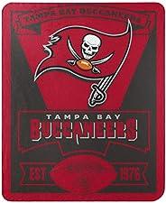 """The Northwest Group NFL Tampa Bay Buccaneers Marque Fleece Throw Blanket, 50"""""""" x 60"""""""