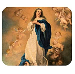 Computer Non-Slip Rubber Mouse Pad with Virgin Mary theme for girls by icecream design