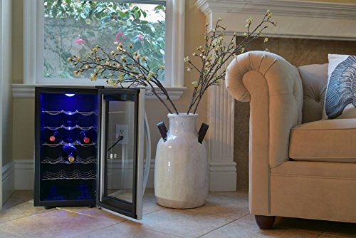 Avalon Bay AB-WINE18S Wine Fridge, 18 Bottle, Black/Silver by Avalon Bay (Image #1)