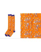 Giftcraft Yo Sox Skeleton Women's Orange Halloween Knee High Socks