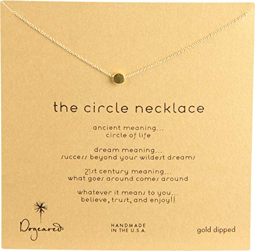 Dogeared Gold Necklace - Dogeared Women's Circle Necklace Gold-Dipped One Size