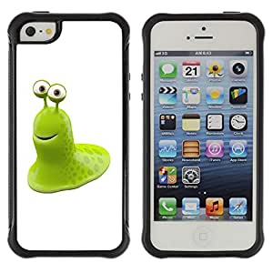 CAZZ Rugged Armor Slim Protection Case Cover Shell // Funny Green Toad // Apple Iphone 5 / 5S