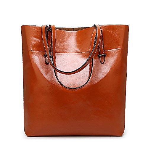 Luccichio cerniere Moda Borse tracolla Marrone acquirente Viaggio Donna a VogueZone009 wRxqtt
