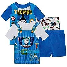 Thomas Train Boys Pajamas 4 Pieces Shirt Shorts Thomas and Friends (2T)