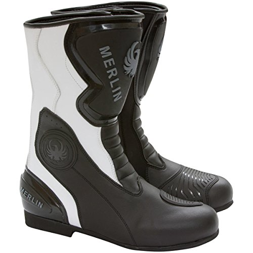 Black 08 Phoenix Motorcycle Merlin Boots White WP G24 Outlast Y4nxv8