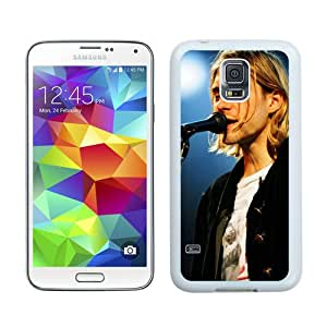 Hot Sale Samsung Galaxy S5 I9600 Case ,Beautiful Unique Designed Case With Kurt Cobain 1 White Samsung Galaxy S5 I9600 Cover