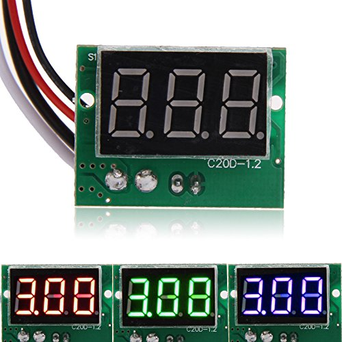 UTP Dirent DC 0 to 5A 0.36Inch Red LCD Digital Tube Display Ampermeter Panel Ammeter Current Meter Tester