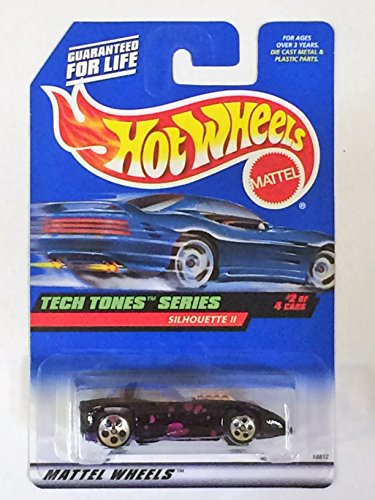 Hot Wheels - 1998 - Tech Tones Series - Silhouette II - Black & Purple - #2 of 4 - Collector #746 - Limited Edition - Collectible 1:64 ()