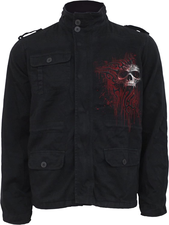 Spiral - Men - DEATH BLOOD - Military Lined Jacket with Hidden Hood