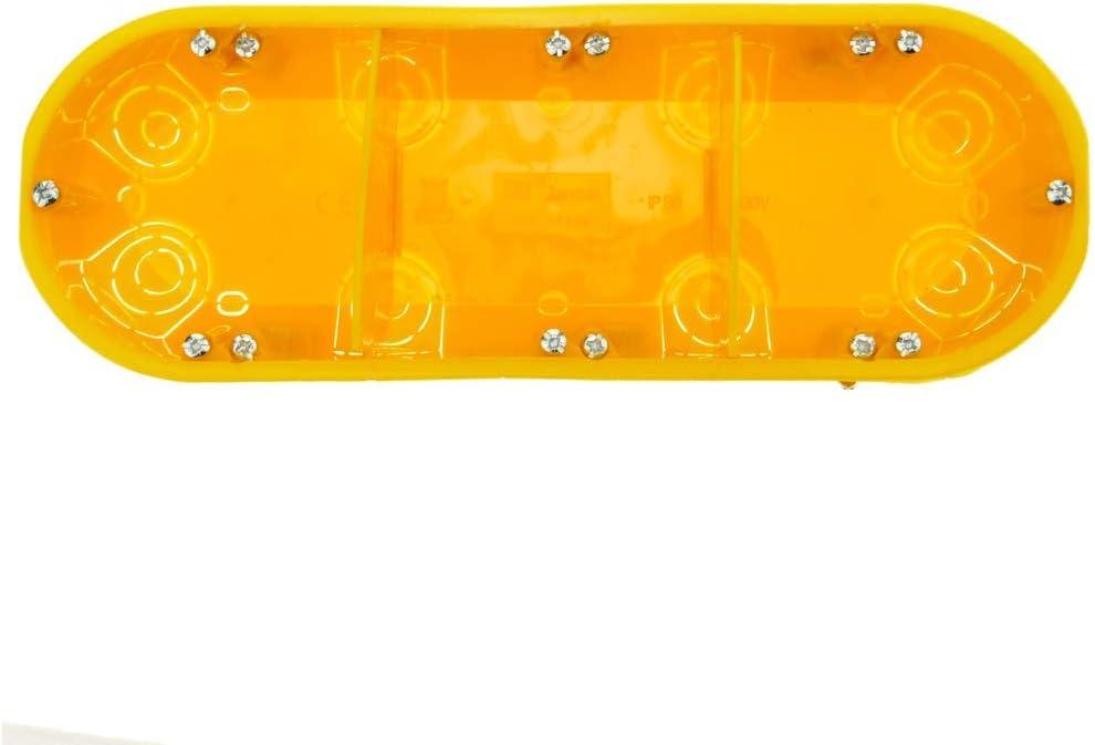 Caja de empotrar Rectangular 215x74mm para Paredes Huecas BeMatik
