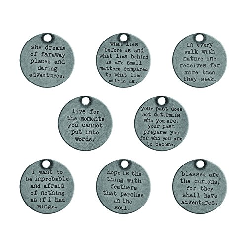 Tim Holtz Idea-Ology Metal Quote Tokens 8/Pkg-