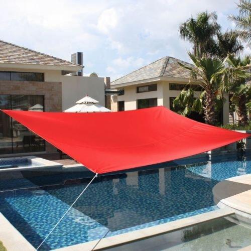 10' x15' Deluxe Rectangle Sun Shade Sail UV Top Outdoor Canopy Patio Lawn - Shades Kardashian