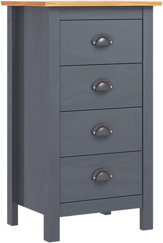 Irfora Armoire Lat/érale//Buffet Moderne//Armoire de Rangement//Buffet Hill Range Gris 46x35x80 cm Bois de Pin Solide