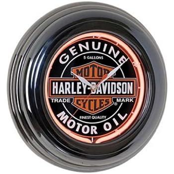 Amazoncom Classic Harley Neon Wall Clock HarleyDavidson Home