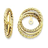 14k Yellow Gold Polished & Twisted Fancy Earrings Jackets (0.6IN x 0.5IN )