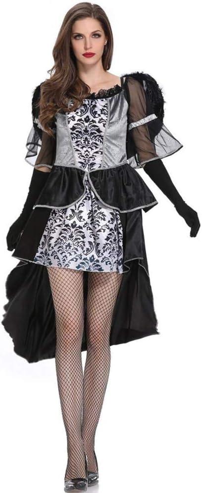 WWAVE Halloween Disfraz Adulto el Papel Demonio Angel Negro Traje ...