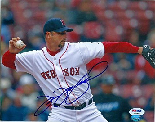 Autograph 190866 Boston Red Sox Psa Authenticated No. Z58411 Tim Wakefield Autographed 8 x 10 in. Photo
