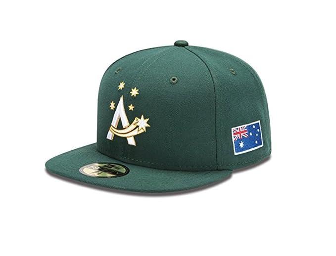 ad908742ecd ... top quality new era 59fifty hat australia official on field world  baseball classic dark green cap